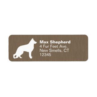 German Shepherd Dog Silhouette Label