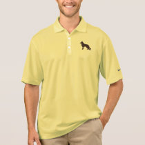 German Shepherd Dog Silhouette Polo Shirt
