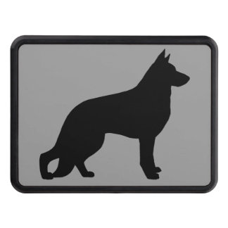 German Shepherd Dog Silhouette Tow Hitch Cover
