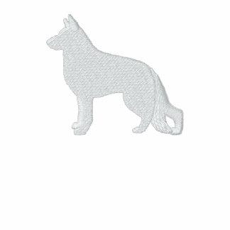 German Shepherd Dog Silhouette with Custom Text Polo