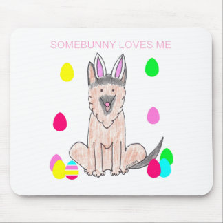 German Shepherd Dog Somebunny Loves Me Mouse Pad