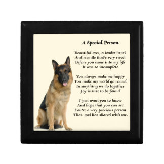 German Shepherd Dog - Special Person Poem Gift Box