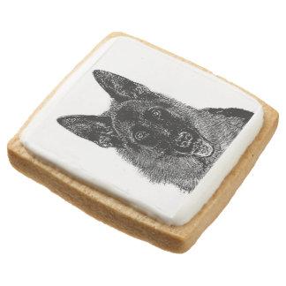 German Shepherd dog Square Shortbread Cookie
