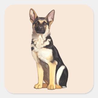 German Shepherd Dog Square Sticker