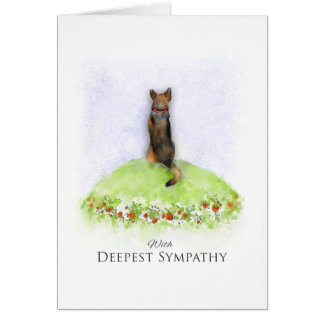 German Shepherd Dog Sympathy Card