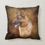 German shepherd dog throw pillows
