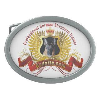 German Shepherd Dog Trainer Oval Belt Buckle