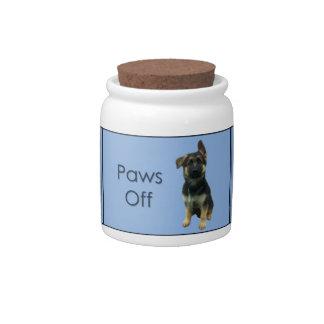 German Shepherd Dog Treat Jar