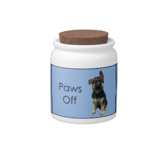 German Shepherd Dog Treat Jar Candy Dishes