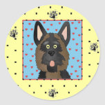 German Shepherd Dog Tshirts and Gifts Round Stickers