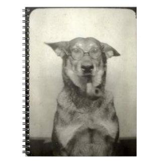 German Shepherd Dog Vintage Themed Spiral Notebook