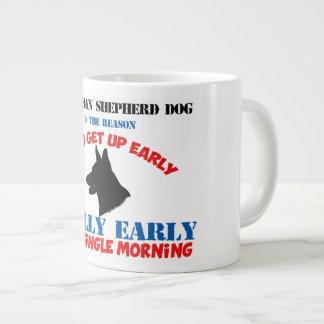 German Shepherd Dog Wake Up Walk take me out Giant Coffee Mug
