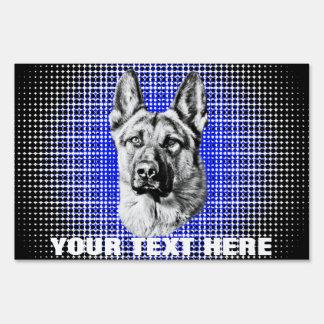 German Shepherd Dog Yard Signs