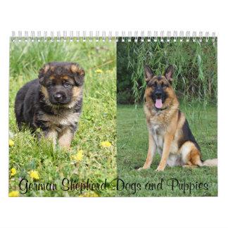 German Shepherd Dogs and Puppies Calendar 2016