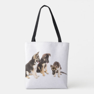 German Shepherd Dogs Sitting Tote Bag