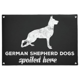 German Shepherd Dogs Spoiled Here Doormat