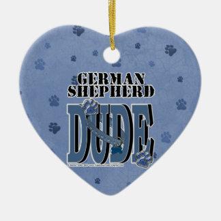 German Shepherd Dude Ceramic Ornament