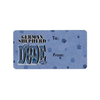 German Shepherd DUDE Label