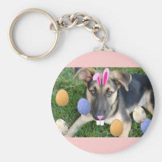 German Shepherd Easter Puppy Key Chains