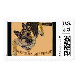 German Shepherd Embroiered look Postage