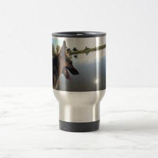 German Shepherd/Enjoying the View Travel Mug
