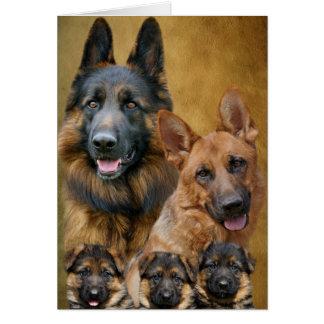 German Shepherd Family Card