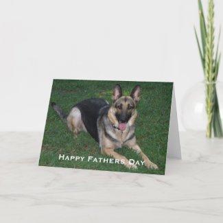 German Shepherd: Fathers Day Card card