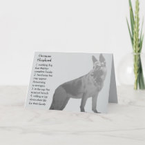 German Shepherd Father's Day Card