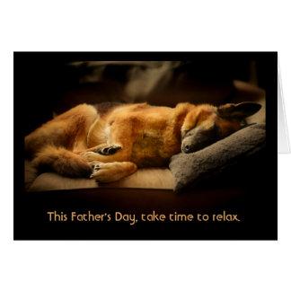 German Shepherd Father's Day Card