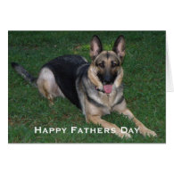 German Shepherd: Fathers Day Card