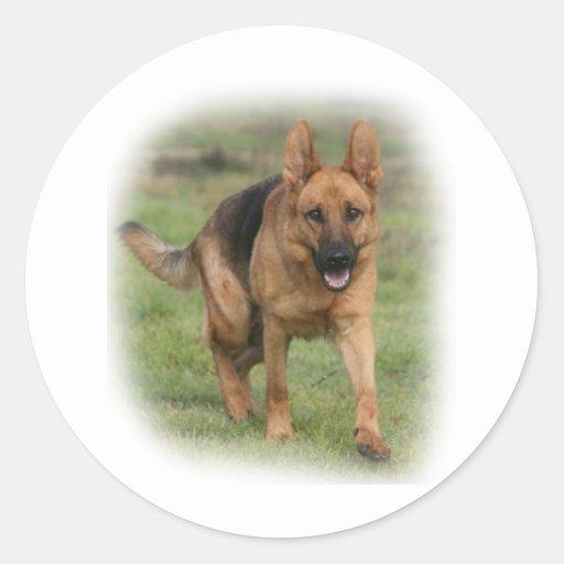 "German Shepherd Female ""Gilla"" Round Stickers"
