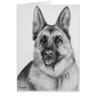 German Shepherd Fine Art Card