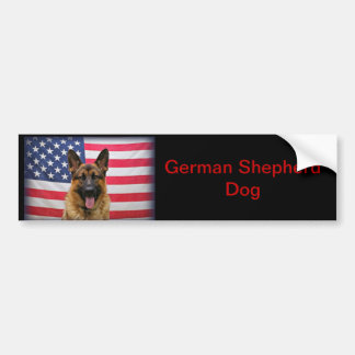 German Shepherd Flag Car Bumper Sticker