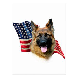German Shepherd Flag Postcard