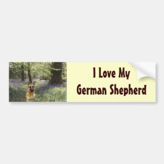 German Shepherd Forest Bumper Sticker