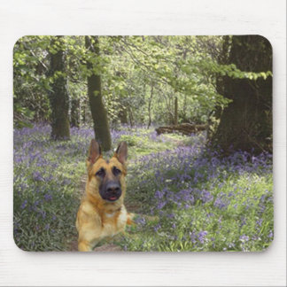 German Shepherd Forest Mousepad