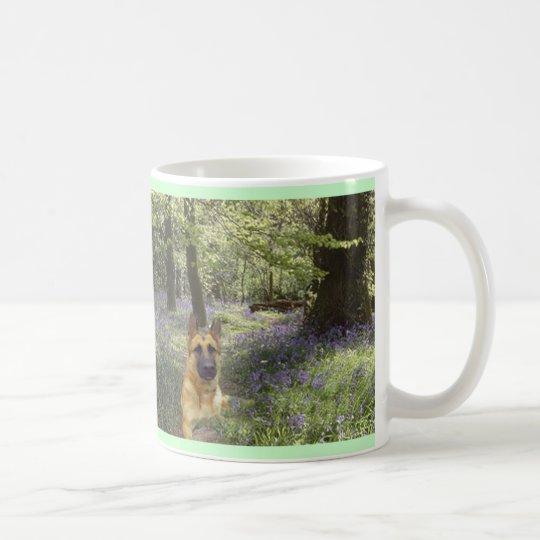 German Shepherd Forest Mug