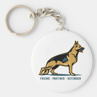German Shepherd Friend Keychain