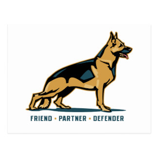 German Shepherd Friend Postcard