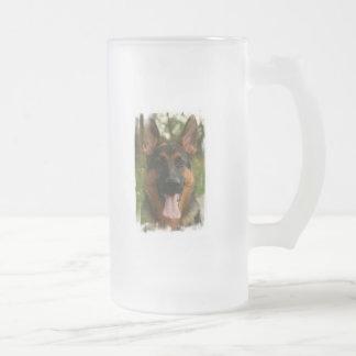German Shepherd Frosted Beer Mug