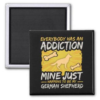 German Shepherd Funny Dog Addiction Magnet