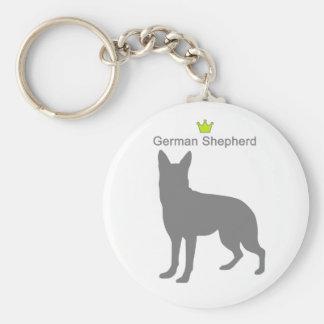 German Shepherd g5 Basic Round Button Keychain