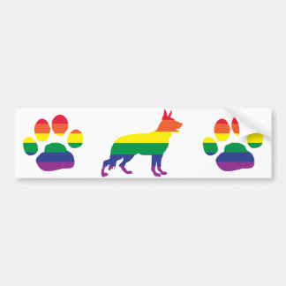 German Shepherd Gay Pride Bumper Stickers