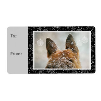 German Shepherd Gift Labels