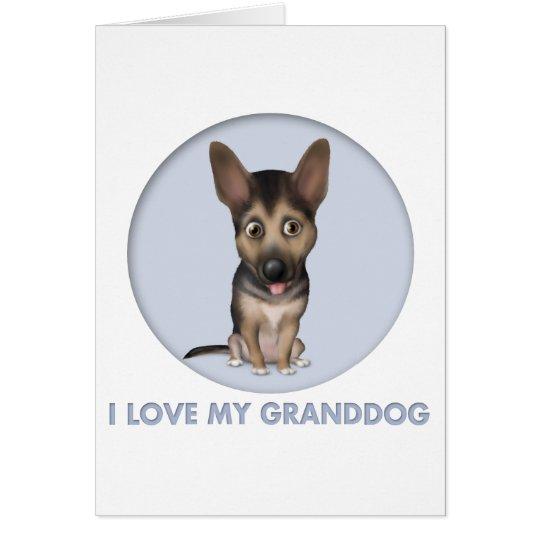 German Shepherd Granddog Card