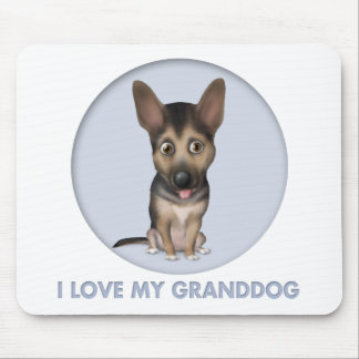 German Shepherd Granddog Mouse Pad