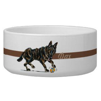 German Shepherd Grizzle Personalized Pet Bowl