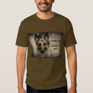 German Shepherd Guardian Angel Mens Basic T-Shirt