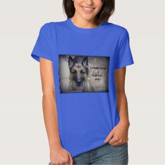 German Shepherd Guardian Angel Women Basic T-Shirt