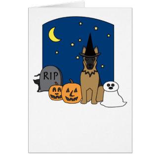 German Shepherd Halloween Greeting Card
